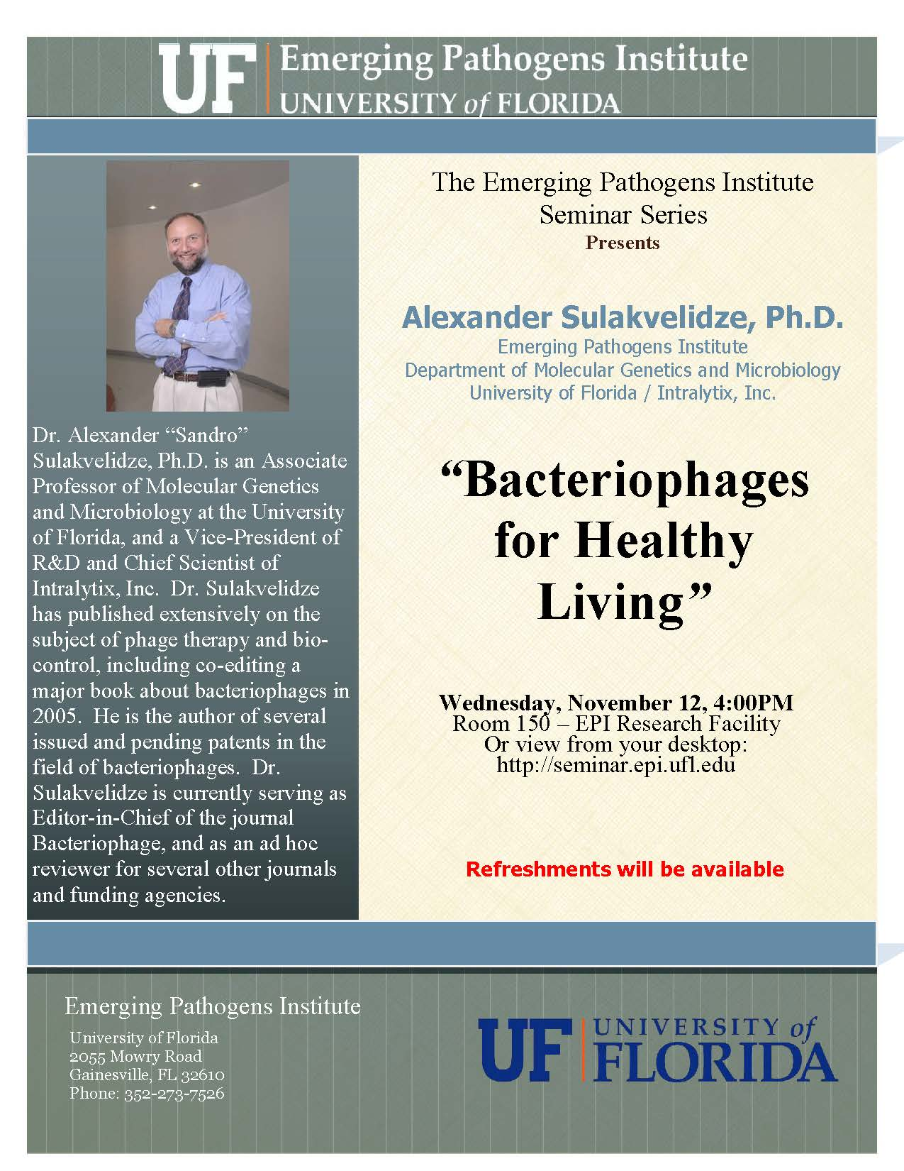 Bacteriophages for Healthy Living