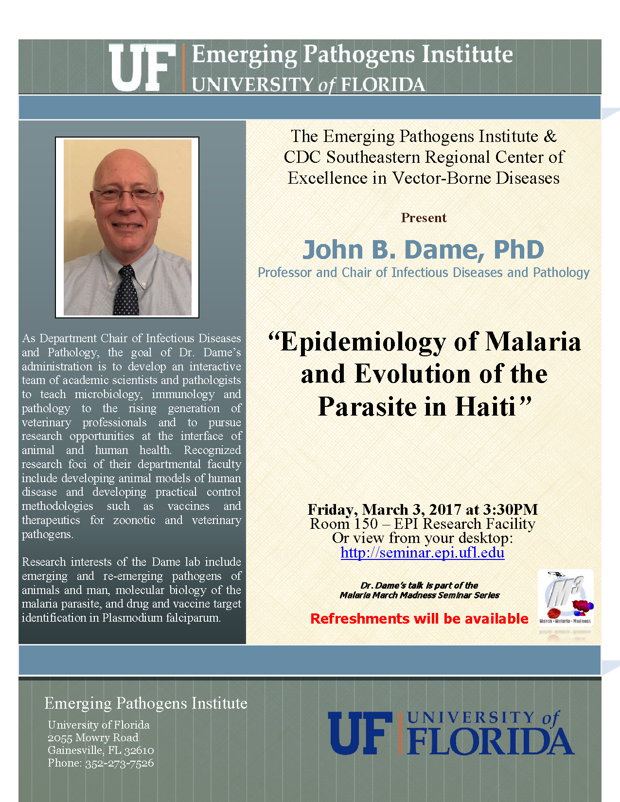Epidemiology of Malaria and Evolution of the Parasite in Haiti""